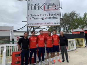 South West Forklifts sponsors iconic Swindon Town Football Club floodlights