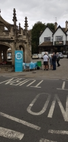 Brexit Party candidate ordered to move stand in Malmesbury