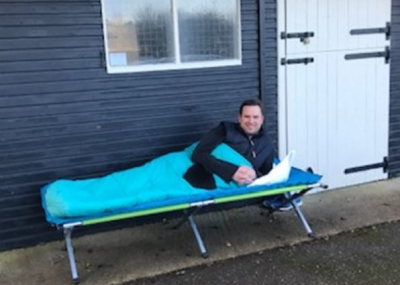 Ben Thompson's Sleep Out raises funds to help the homeless through Crisis UK