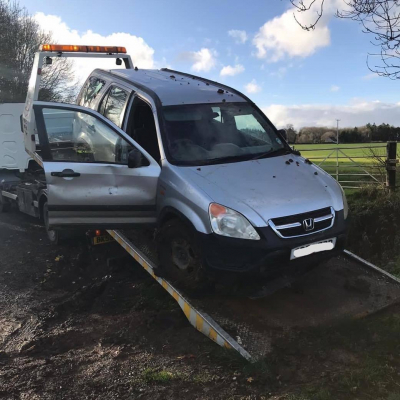 Car used by hare coursing gang traced in Malmesbury