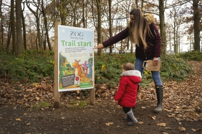 Learning about nature with Zog the Dragon on new Westonbirt trail