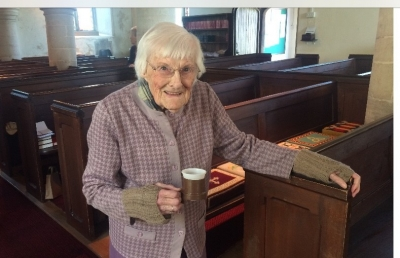 Church surprise for stalwart's 95th birthday