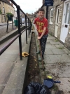 Neighbours clean up streets of town