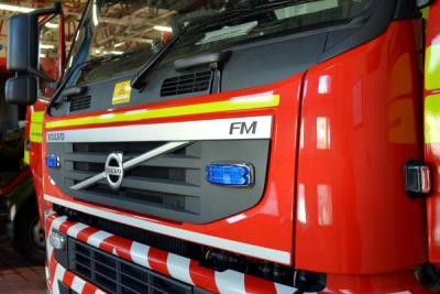 Fire crews rescue a person from stream at Erlestoke