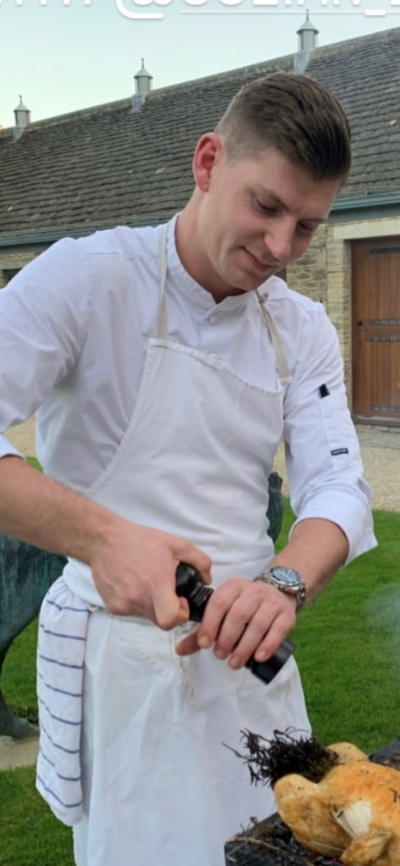 Julian Elkjaer, 22, from Whatley Manor, Malmesbury is in the running for a national title